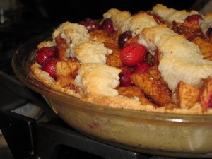 Paleo Apple Cranberry Pie