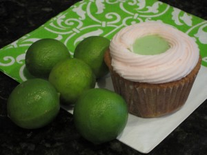Spiked Cherry Limeade Cupcakes