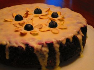 Blueberry Upside Cake