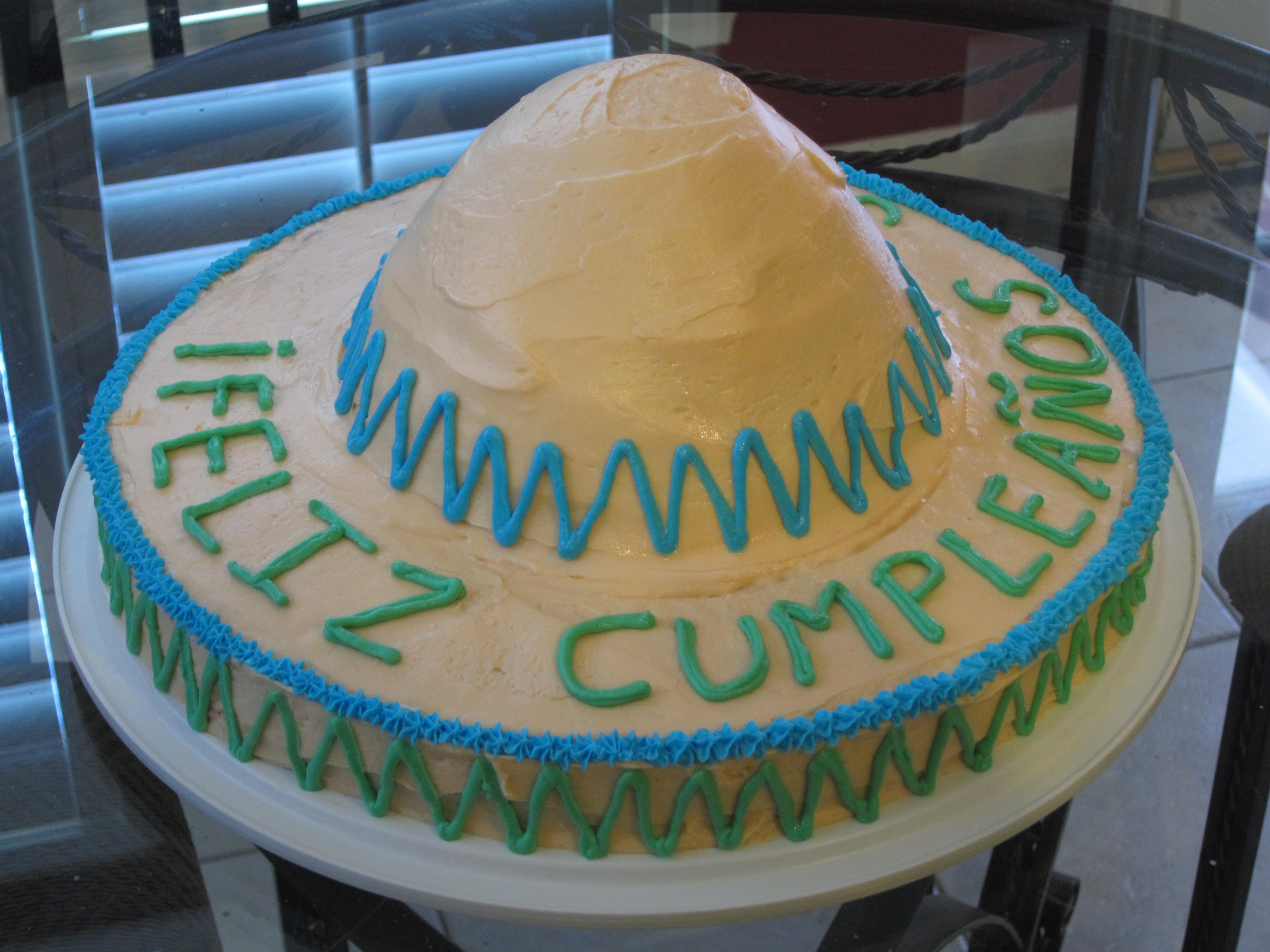 Sombrero Cake The Sassy Apron