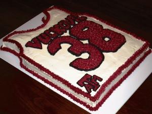 Aggie Basketball Jersey Cake