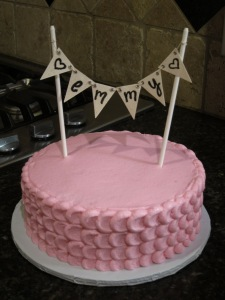 Pink Girly Birthday Cake