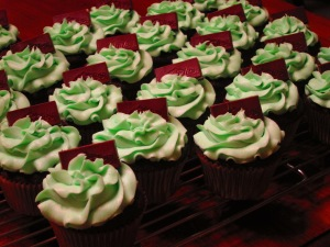 Mint Chocolate Cupcake with Andes Mint