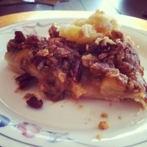 Spiked Apple Pecan Pie